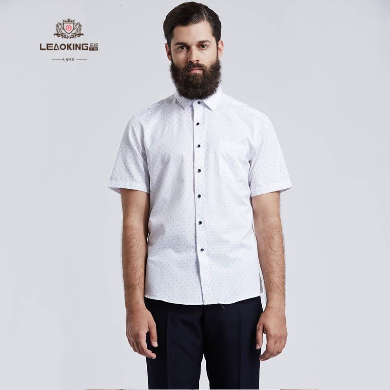 白色格纹商务衬衣